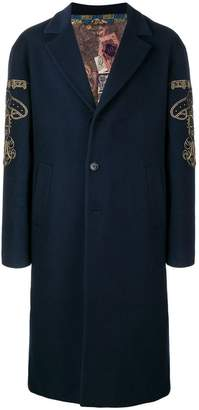 Etro side embroidery loose coat