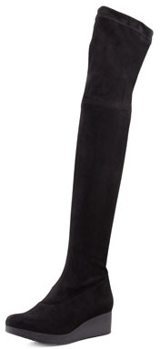 Robert Clergerie Vatuf Stretch Wedge Over-the-Knee Boot