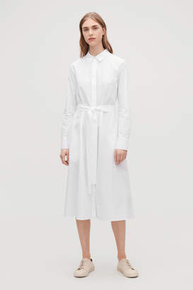 Cos PLEATED-BACK SHIRT DRESS