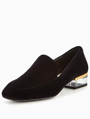 Nine West Umissit Slip On With Lucite Heel