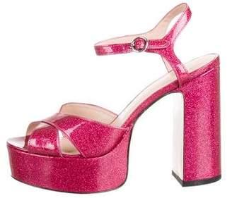 Marc Jacobs Platform Glitter Sandals