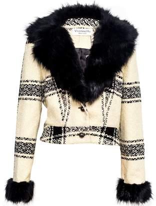 Vhny Cropped Fur Lapel Jacket