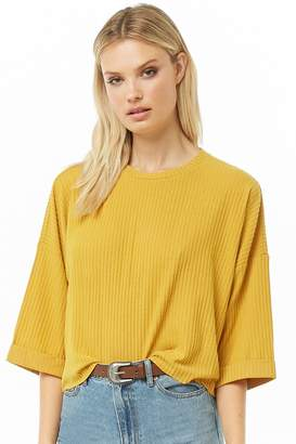 Forever 21 Ribbed Dolman Sleeve Top