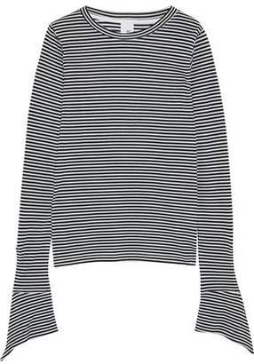 Iris & Ink Courtney Draped Striped Jersey Top