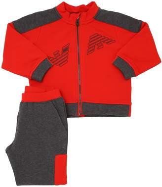 Armani Junior Logo Cotton Sweatshirt & Sweatpants