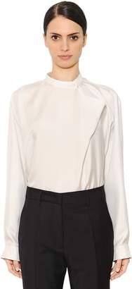 Jil Sander Oversized Washed Silk Twill Shirt