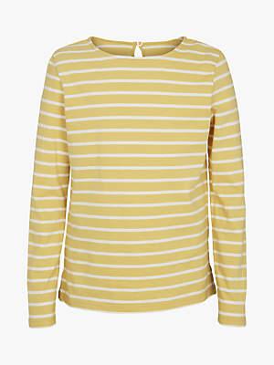 Fat Face Girls' Breton Stripe T-Shirt