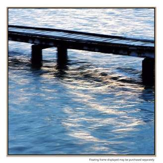 United Artworks Boat Jetty Canvas Print With Floating Frame