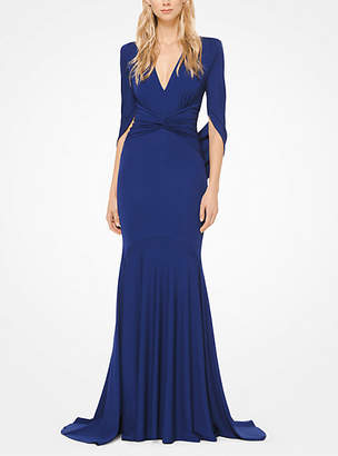 Michael Kors Draped Stretch Matte-Jersey Gown