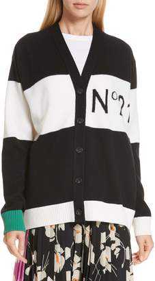 N°21 N21 N?21 Stripe Wool Cardigan