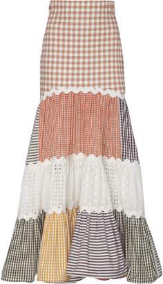 Silvia Tcherassi Petrona Cotton Patchwork Maxi Skirt Size: S