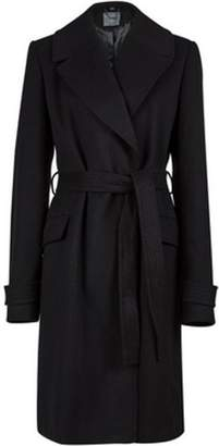 Dorothy Perkins Womens Black Belted Wrap Coat