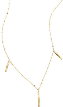 Lana Triple Bar Charm Necklace in 14K Gold
