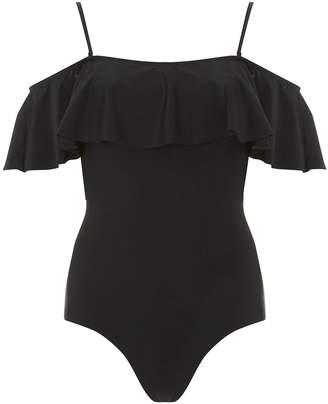 Dorothy Perkins Womens *Dp Beach Black Bardot Swimsuit
