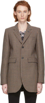Balenciaga Brown Shaped Check Blazer