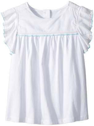 Janie and Jack Ruffle Sleeve Top Girl's Sleeveless