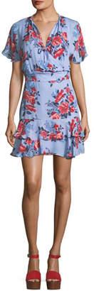 Parker Natalie Floral Fit-and-Flare Dress