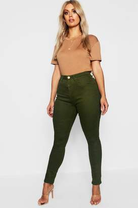 boohoo Plus 5 Pocket Stretch Skinny Jean