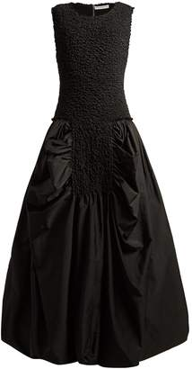 J.W.Anderson Smocked-bodice gathered dress