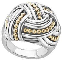 Lagos Large Torsade Knot Ring, Size 7