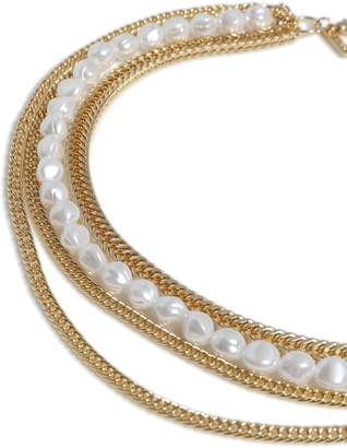 Topshop Pearl and Chain Necklace