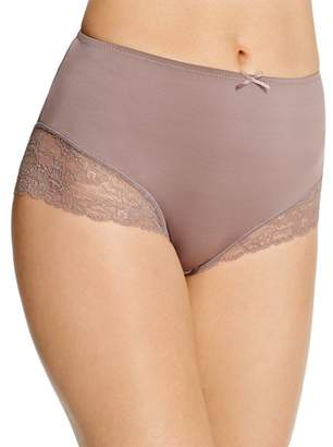 Fine Lines Microfiber Galloon Full Figure Lace Briefs