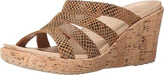 crocs Women's A-Leigh Snake Pattern Wedge $28 thestylecure.com