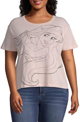 Fifth Sun Womens Round Neck Short Sleeve Graphic T-Shirt-Juniors Plus