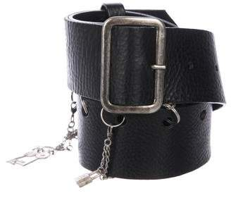 Jean Paul Gaultier Charm Leather Belt