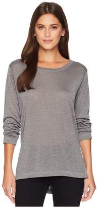 Nally & Millie Long Sleeve High-Low Tunic with Side Slits Women's Blouse