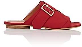 Derek Lam Women's Noa Satin Slide Sandals-Deep Red