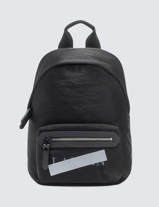 Lanvin Satin Nylon Logo Zipped Backpack