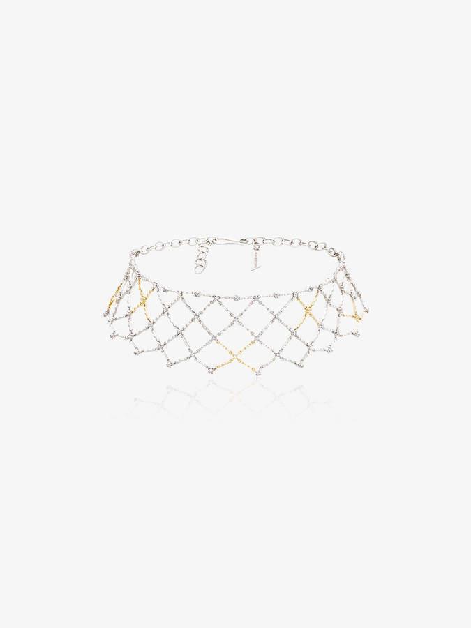 Gaelle Khouri white diamond choker