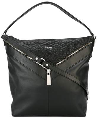 Diesel zipped shoulder bag