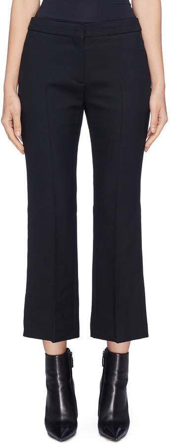 Flared wool-blend suiting pants