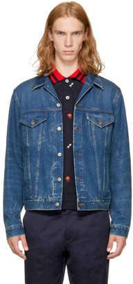 Gucci Blue Blind For Love Denim Jacket