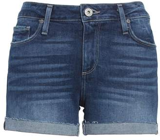 Paige Jimmy Jimmy Raw Cuff Denim Shorts