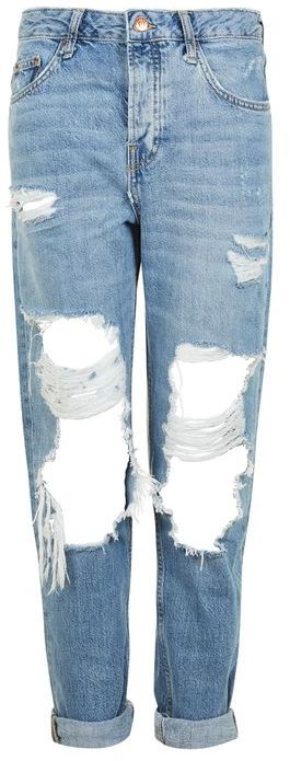 Topshop Topshop Moto busted ripped hayden boyfriend jeans