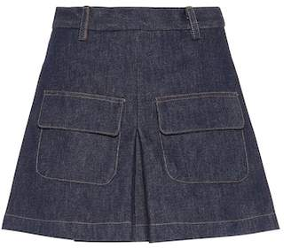 Matthew Adams Dolan Pleated denim skirt