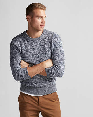 Express Marled Crew Neck Sweater