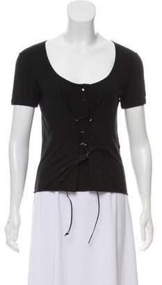 Fendi Short Sleeve Scoop Neckline Shirt