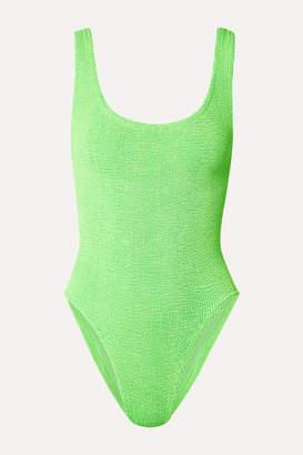 Hunza G Seersucker Swimsuit - Bright green