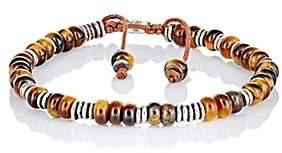 M. Cohen Men's Beaded Bracelet-Brown