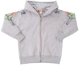 Embroidered Hooded Cotton Sweatshirt