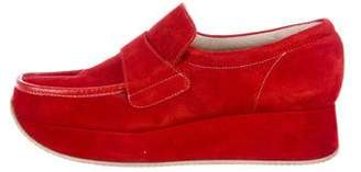 Stephane Kelian Suede Platform Loafers