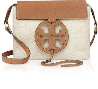 Tory Burch Festival Brown Shearling and Leather Miller Crossbody Bag