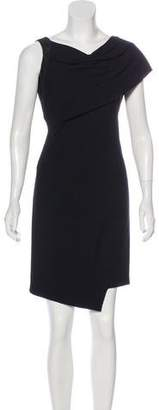 Helmut Lang Suede-Accented Dress