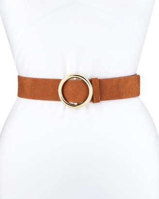 Frame O-Ring Suede Belt