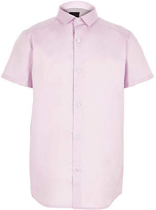 River Island Boys Purple short sleeve shirt