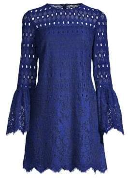 Laundry by Shelli Segal Lace Bell Sleeve Mini Dress